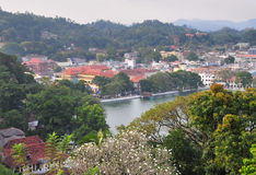 View on Kandy City, Sri Lanka Royalty Free Stock Photos