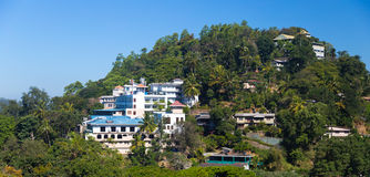 View of Kandy hotels on hill Stock Photos