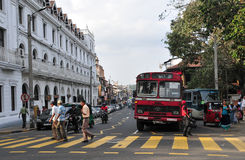 View of Kandy street, Sri Lanka Stock Photo