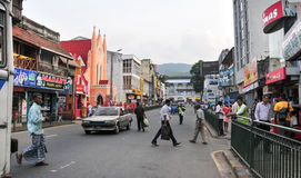 View of Kandy street Royalty Free Stock Image
