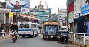 View of Kandy street Stock Photo