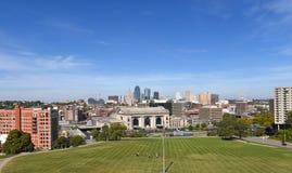 View of Kansas City Missouri. View of downtown Kansas City Missouri with Union Station in front Royalty Free Stock Photos