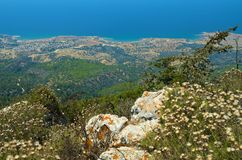 View from Kantara Castle. North Cyprus Royalty Free Stock Photo