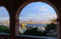 View of Kaohsiung City at Sunset Time Royalty Free Stock Photography