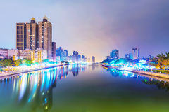 View of Kaohsiung financial district royalty free stock photography