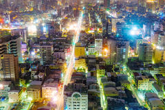 View of Kaohsiung financial district at night Royalty Free Stock Photography