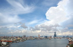 View of Kaohsiung Harbor Royalty Free Stock Photo