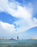 View of Kaohsiung Harbor stock image