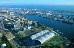 View of Kaohsiung Port and Exhibition Center Royalty Free Stock Photography