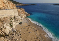 View of Kaputas beach near Antalya, Turkey Royalty Free Stock Photos