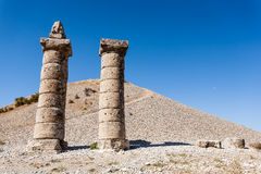 View of Karakus Tumulus, ancient area of Nemrut National Park. Royalty Free Stock Photos