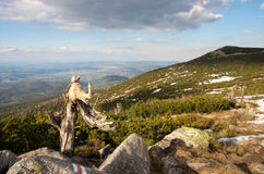 The view from  the Karkonosze Stock Photography