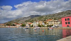 View on Karlobag town in Croatia Royalty Free Stock Image