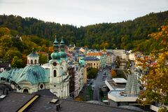 View of Karlovy Vary cityscape