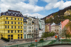 View of Karlovy Vary, Czech republic Royalty Free Stock Images