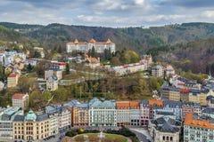 View of Karlovy Vary, Czech republic Royalty Free Stock Photos