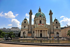 View of Karlskirche in Vienna city Stock Photo
