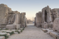 View in Karnak temple Royalty Free Stock Photos