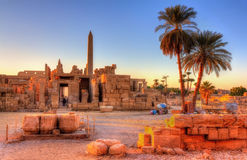 View of the Karnak Temple Complex in Luxor Royalty Free Stock Images
