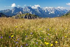 View from Karnische Alpen or Alpi Carniche Stock Photo