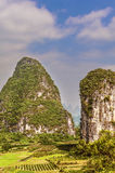 View at Karst mountains near Guilin in China. Stock Photography