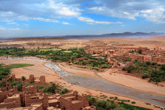View from Kasbah Ait Benhaddou Royalty Free Stock Photo