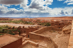 View from Kasbah Ait Benhaddou (Morroco).  royalty free stock images