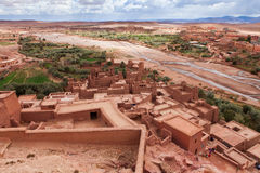 View from Kasbah Ait Benhaddou (Morroco).  royalty free stock photo