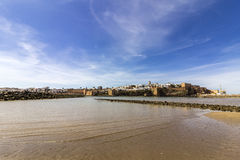View of Kasbah of the Oudayas and ancient Medina in Rabat from th Stock Photos