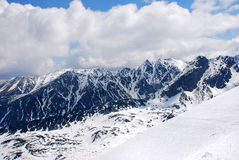 View from Kasprowy. The expansive view of the winter photographed from Kasprowy (Tatra Royalty Free Stock Photo