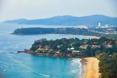 View at Kata Noi, Kata and Karon beach Stock Photography