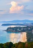 View at Kata Noi, Kata and Karon beach Royalty Free Stock Photos