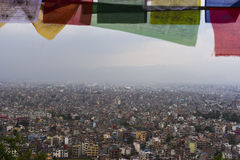 View of the Kathmandu city in Nepal Stock Photography
