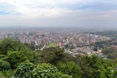 View of Kathmandu city from Swayambhunath temple Royalty Free Stock Image
