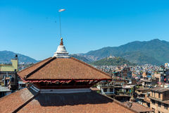 View of Kathmandu Cityscape from a roof at Durbar Square Stock Photography