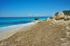 View of Katisma Beach, Lefkada, Ionian Islands, Greece Stock Image