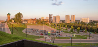 View of the Katowice city panorama. / Poland Royalty Free Stock Photo