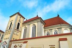 View of Kaunas Priest Seminary. Closeup of Kaunas Priest Seminary Stock Photos
