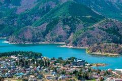 View of Kawaguchiko lake, Japan Stock Photography