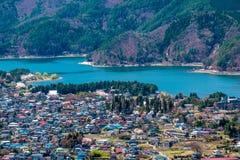 View of Kawaguchiko lake, Japan Stock Images