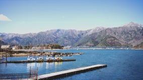 View of Kawaguchiko Lake with Signature Duck Pedal Boat Royalty Free Stock Photo