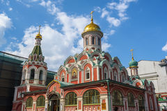 View of Kazan Cathedral of the side of Red Square. Stock Image