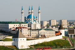 View of Kazan Kremlin. View of Kremlin in Kazan (Russia stock image