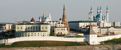 View of Kazan Kremlin. View of Kremlin in Kazan (Russia royalty free stock photography