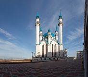 View of the Kazan Kremlin mosque cathedral Col-Sharif Royalty Free Stock Photos