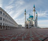 View of the Kazan Kremlin mosque cathedral Col-Sharif Royalty Free Stock Image
