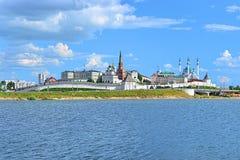 View of the Kazan Kremlin, Republic of Tatarstan, Russia Stock Photos