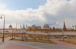 View of Kazan Kremlin, Russia. UNESCO site Royalty Free Stock Photography