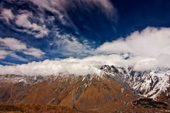 View of Kazbegi Royalty Free Stock Images