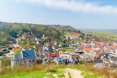 View for Kazimierz Dolny in Poland from above.  Royalty Free Stock Photo